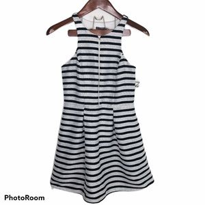 NWT Express Striped Front Zipper Dress Sleeveless